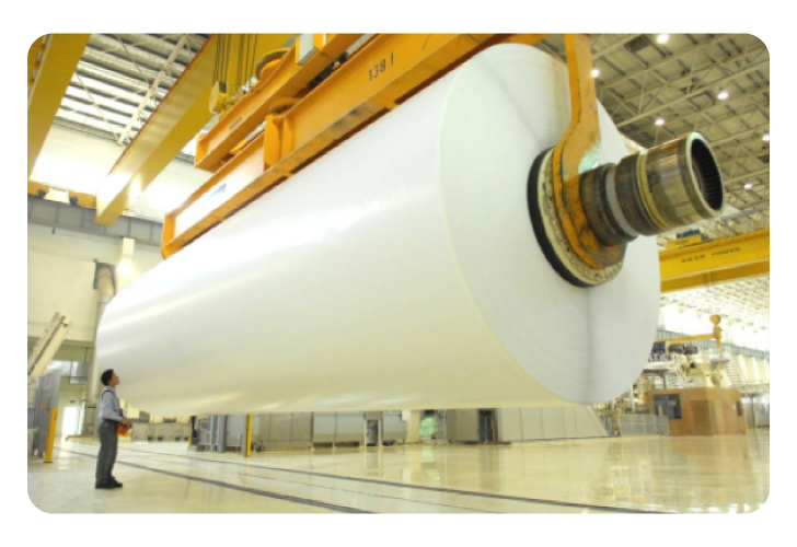 A giant roll of industrial paper.