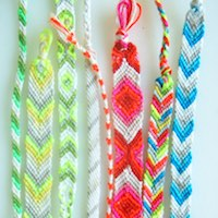 Striped, Chevron and Diamond Bracelets