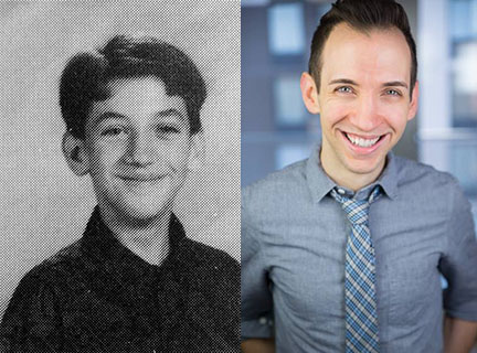 Christopher Ritz-Totten, in 7th grade and now