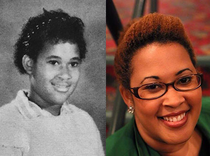 Courtney Boddie, in 5th grade and now