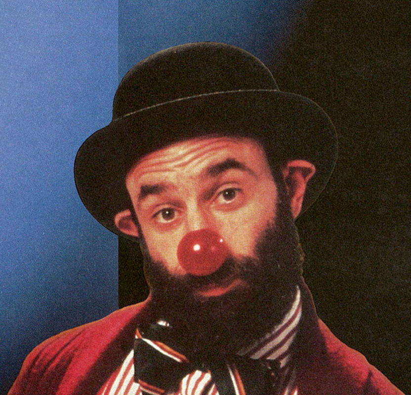 Dennis's favorite comedian, Avner the Eccentric, as he appeared in our 1996-97 season brochure.