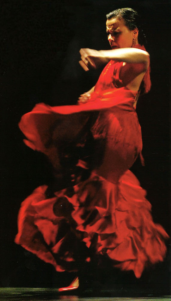 Soledad Barrio of Noche Flamenca, who has performed at the New Vic in 2002, 2009 and during Victory Dance in 2014.