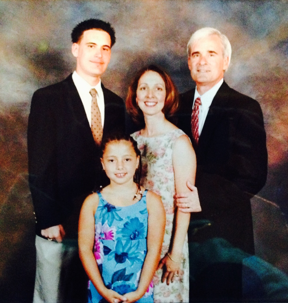 The Sacco Family, photographed in 2000. From left to right, Michael, DeAnna, Mayra and Dennis.