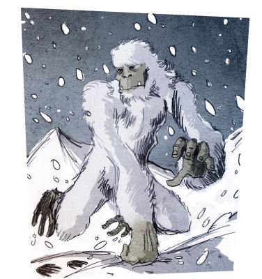 Yeti illustration by Phillipe Semeria