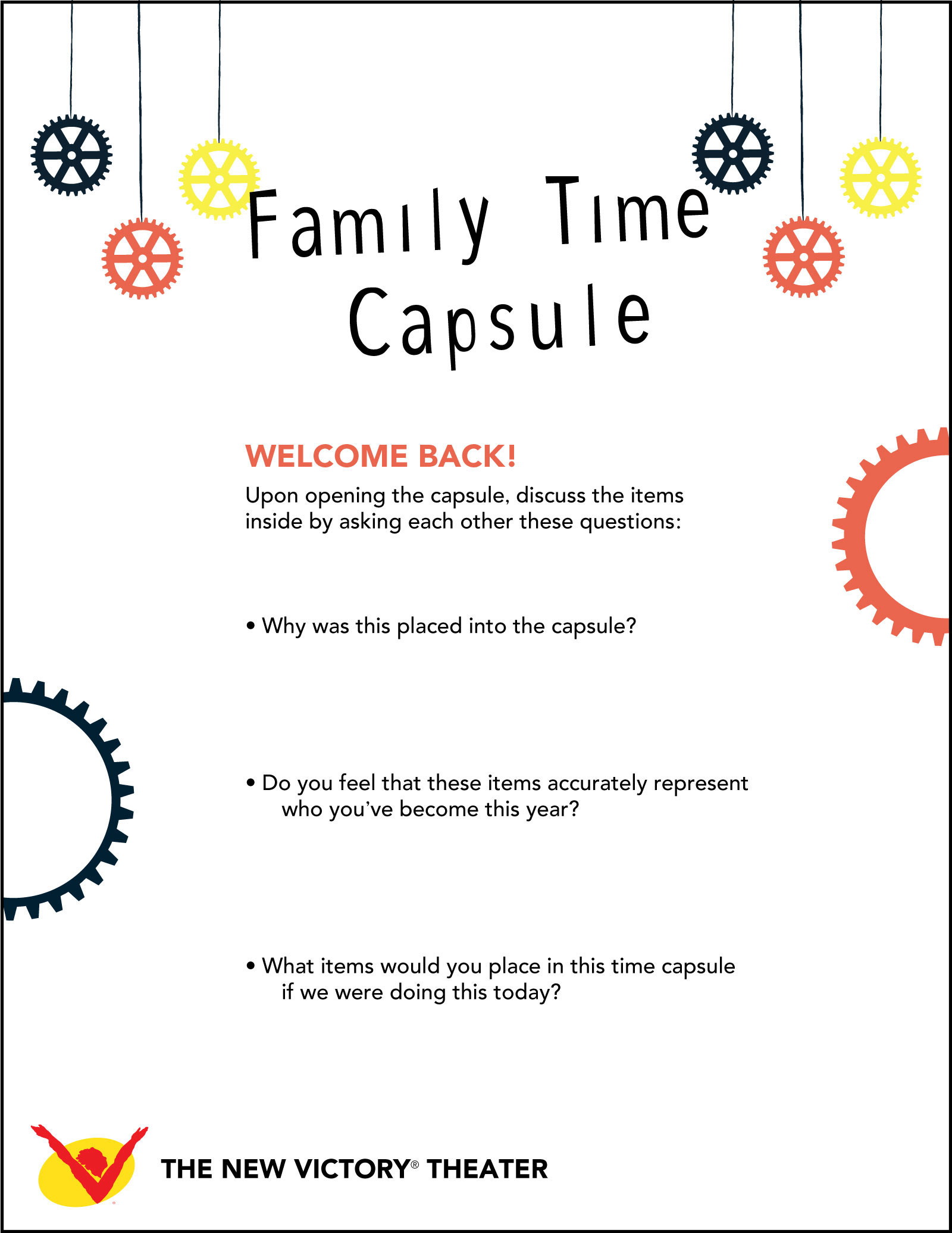 Family Activity Aging Magician – Time Capsule Worksheet