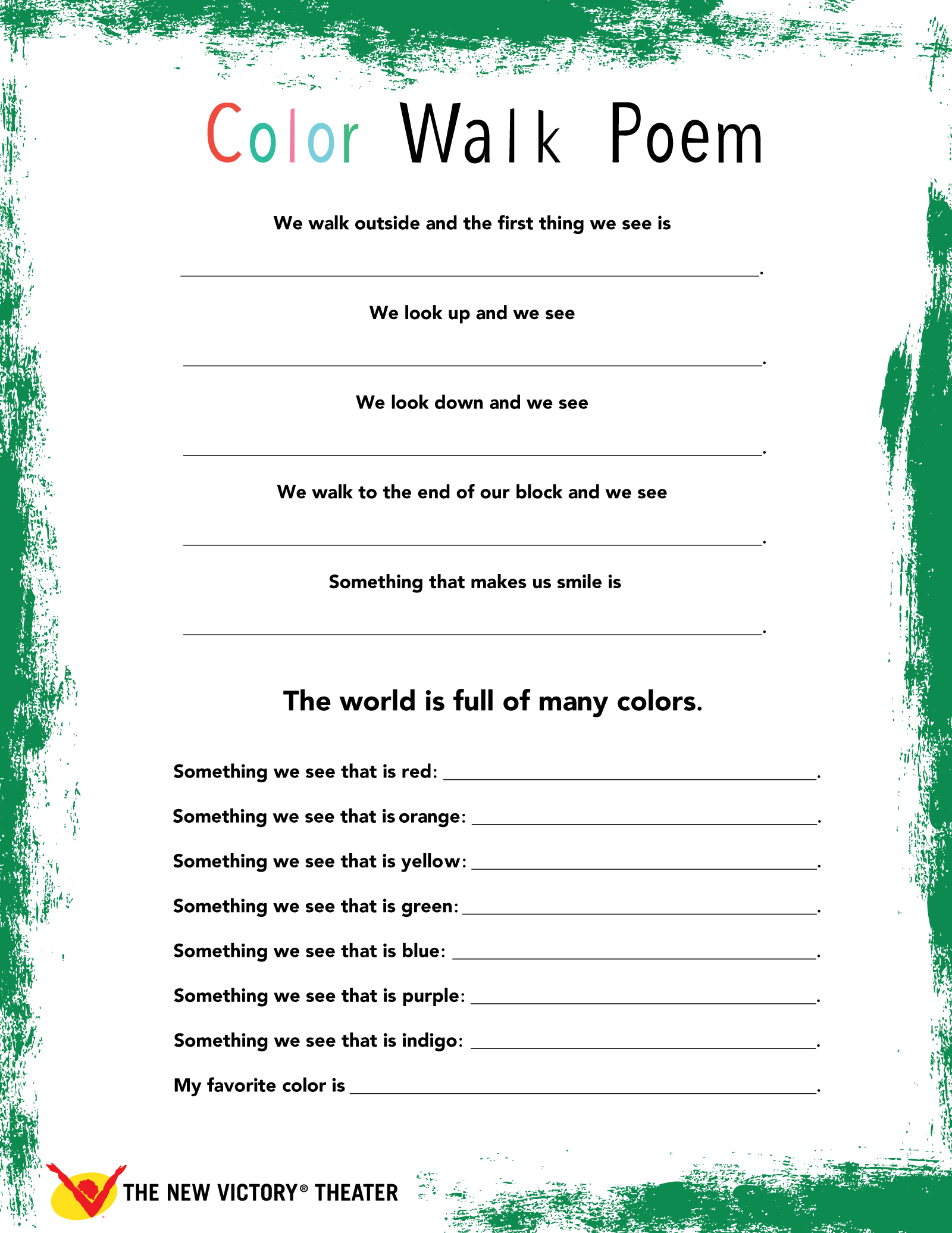 Color Walk Poem