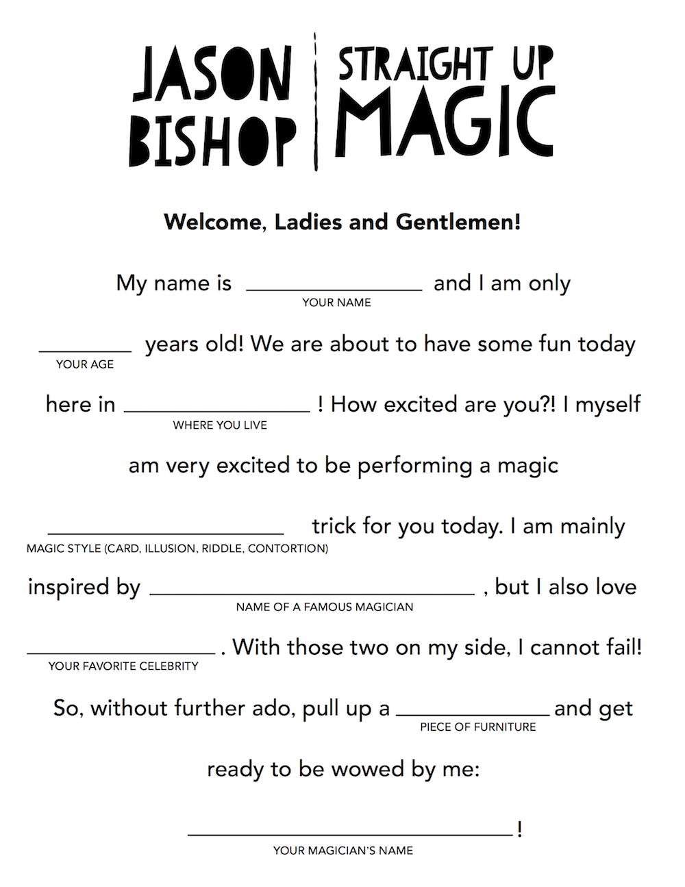 Family Activity Mad Lib
