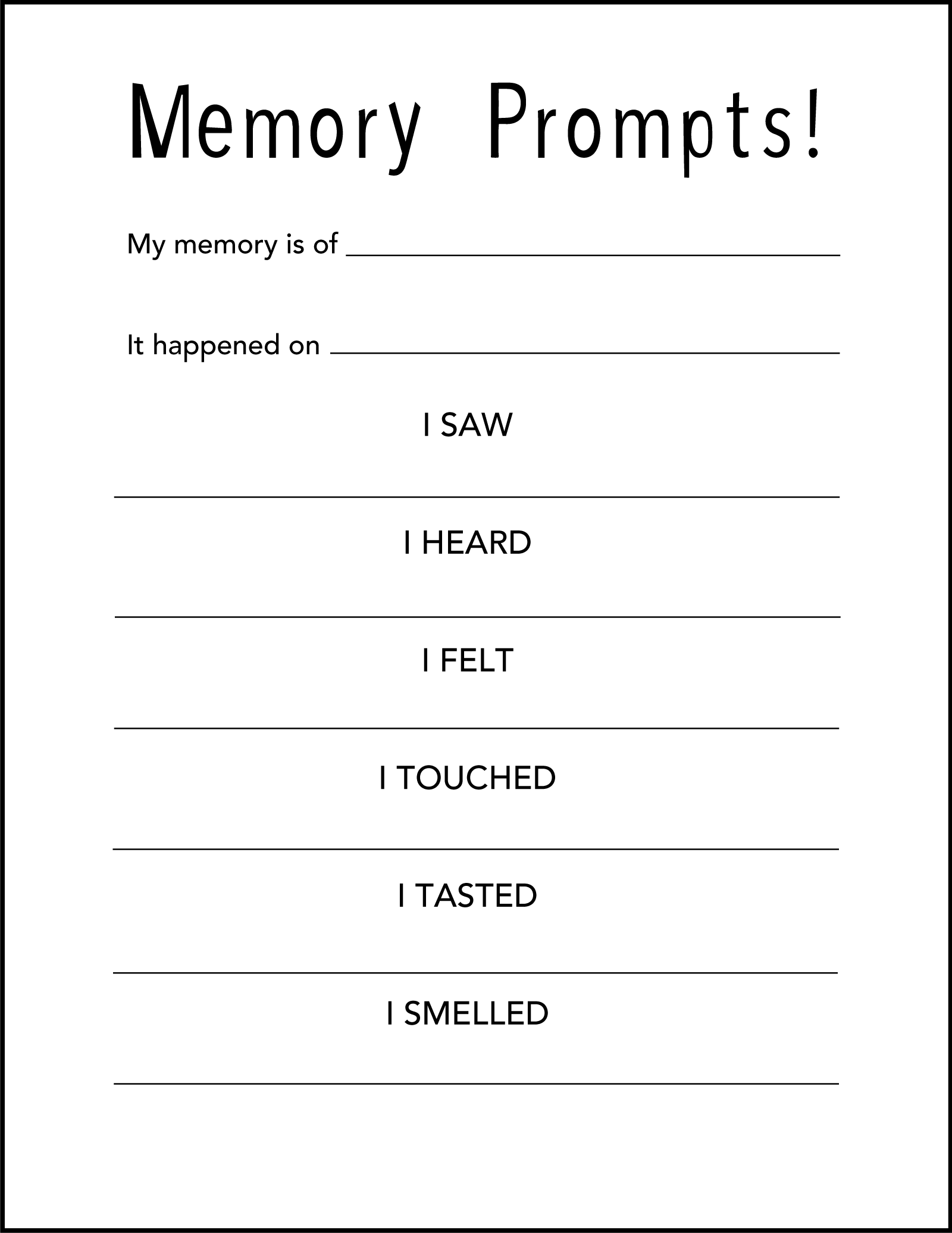 Memory Prompt Template