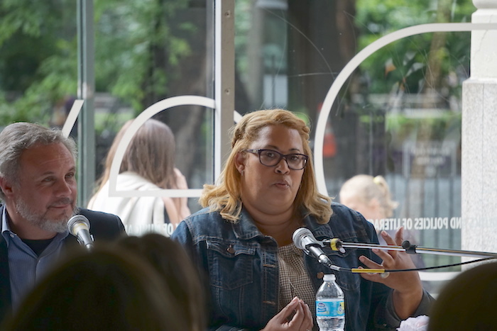 Courtney J. Boddie at New York University Steinhardt's Educational Theatre Program's special roundtable event