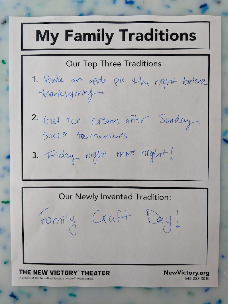 Family Code of Traditions Example