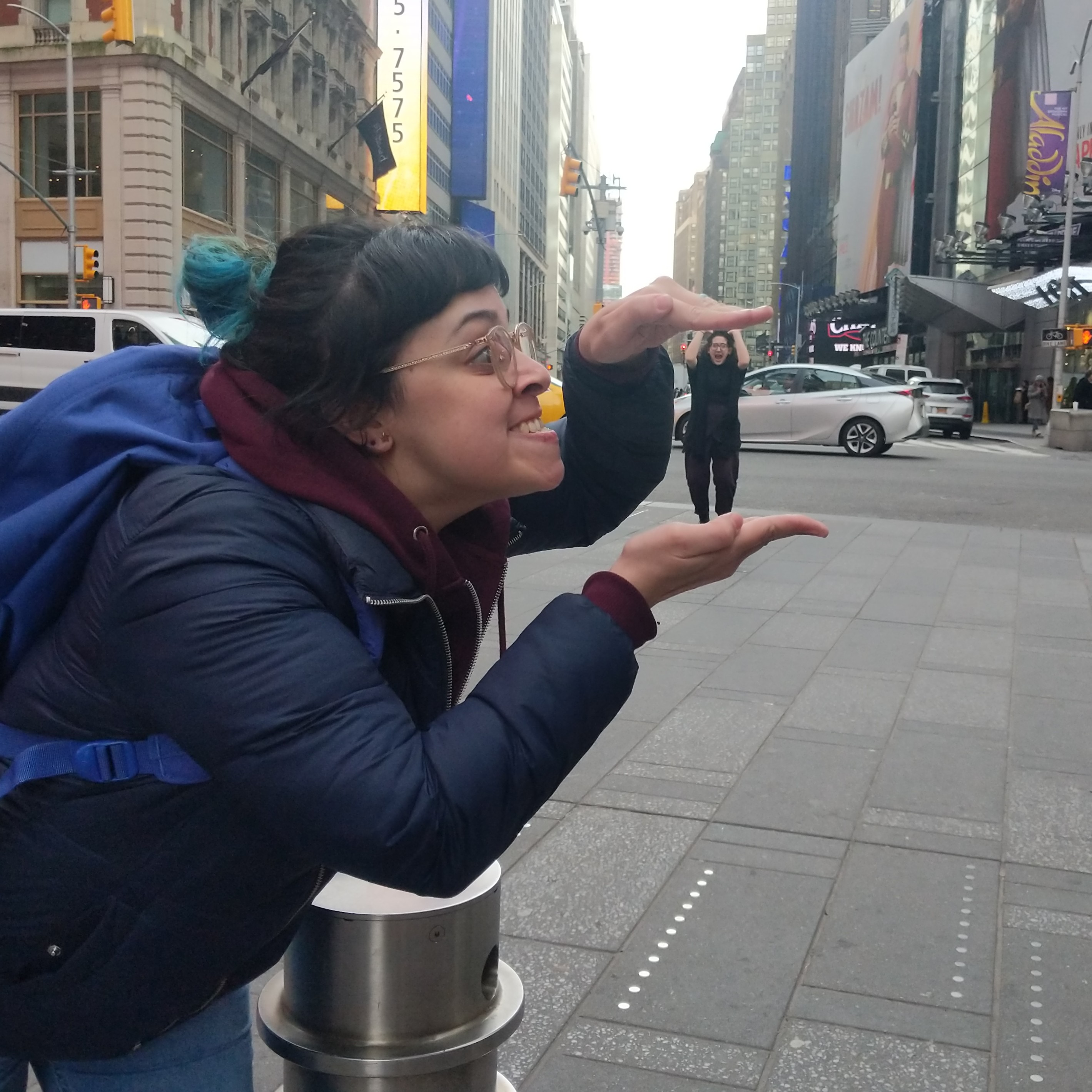 A trick of the eye photo in Times Square
