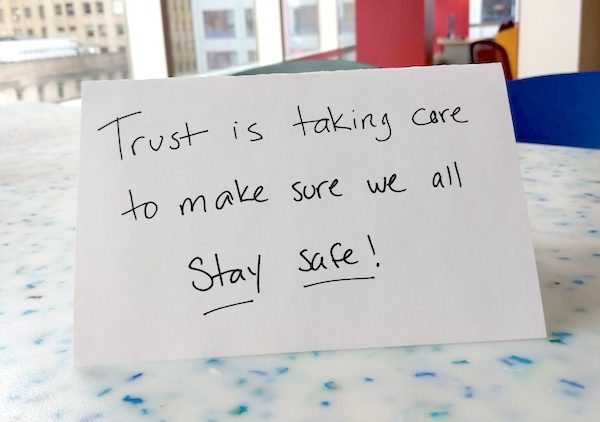 Trust is taking care to make sure we all stay safe!