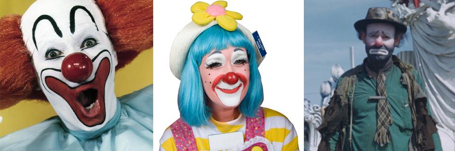 Whiteface Clown, Auguste Clown, Tramp Clown