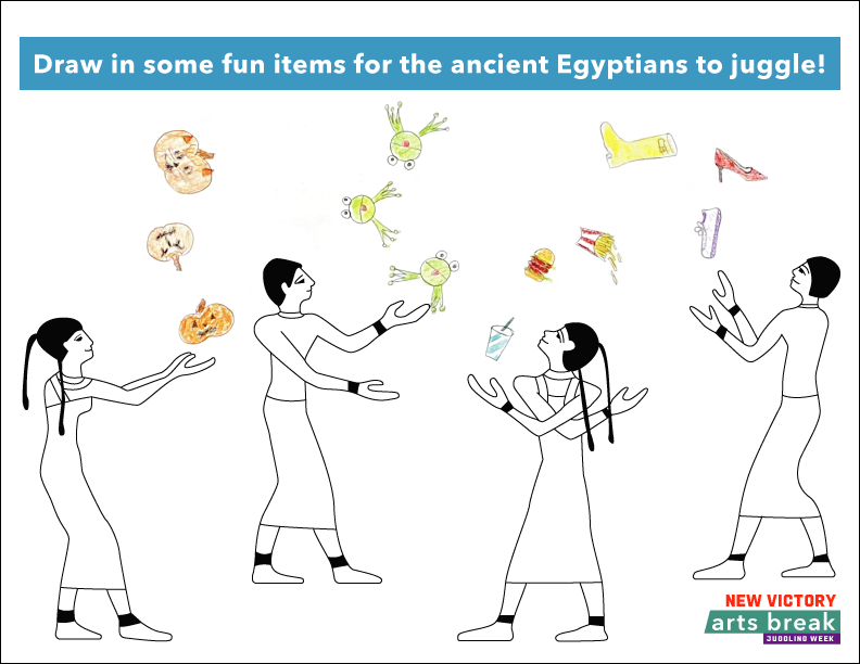Juggling Egyptians Illustration