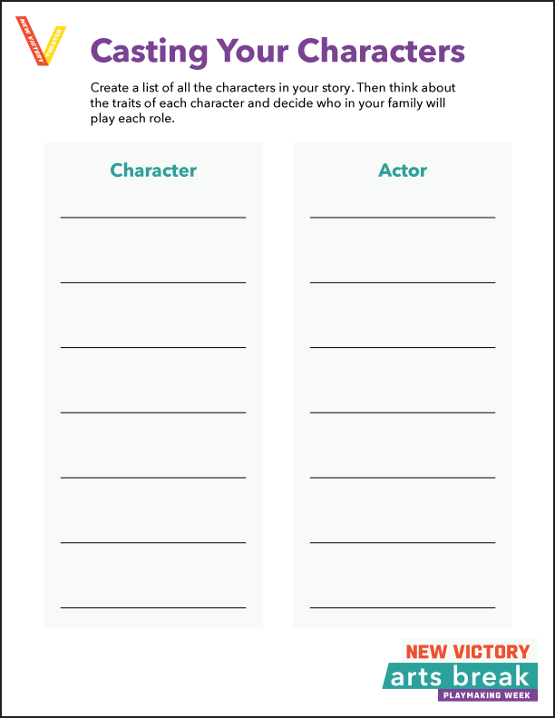 Casting Your Characters Template