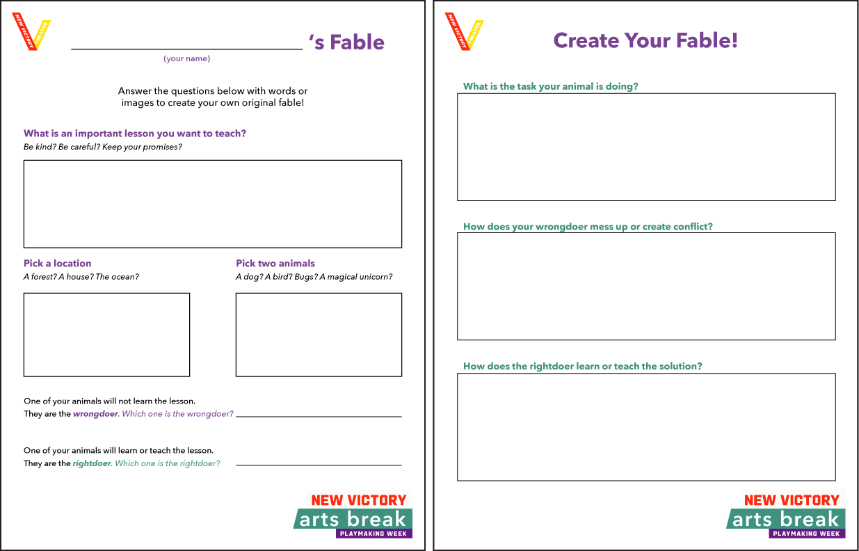 Fable Worksheet