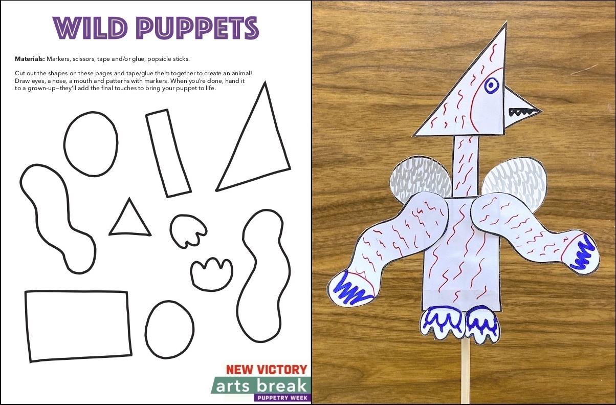 Wild Puppets Craft Template