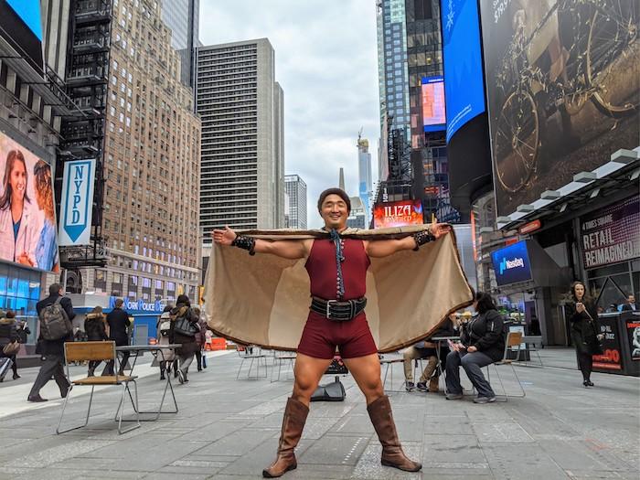 Tulga in Times Square