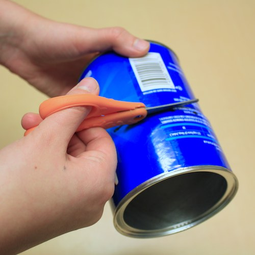Step 2: Cut the canister