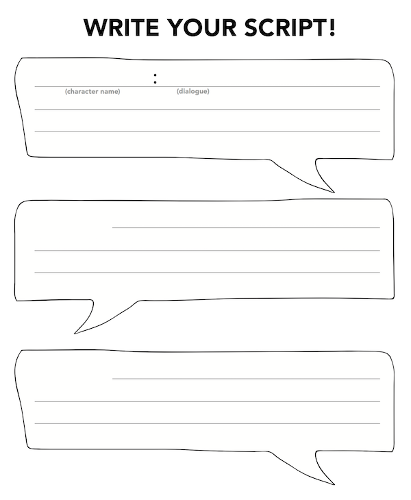 script writing template for kids Example script: stage play format the following is laid out in the way we like to have all scripts sent to us here are a few do's and don'ts.