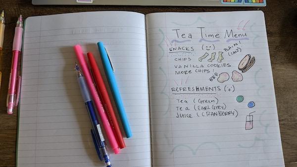 Teatime Menu