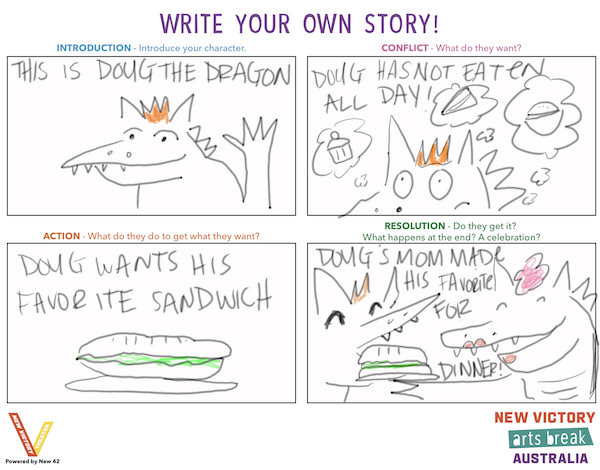 A storyboard example