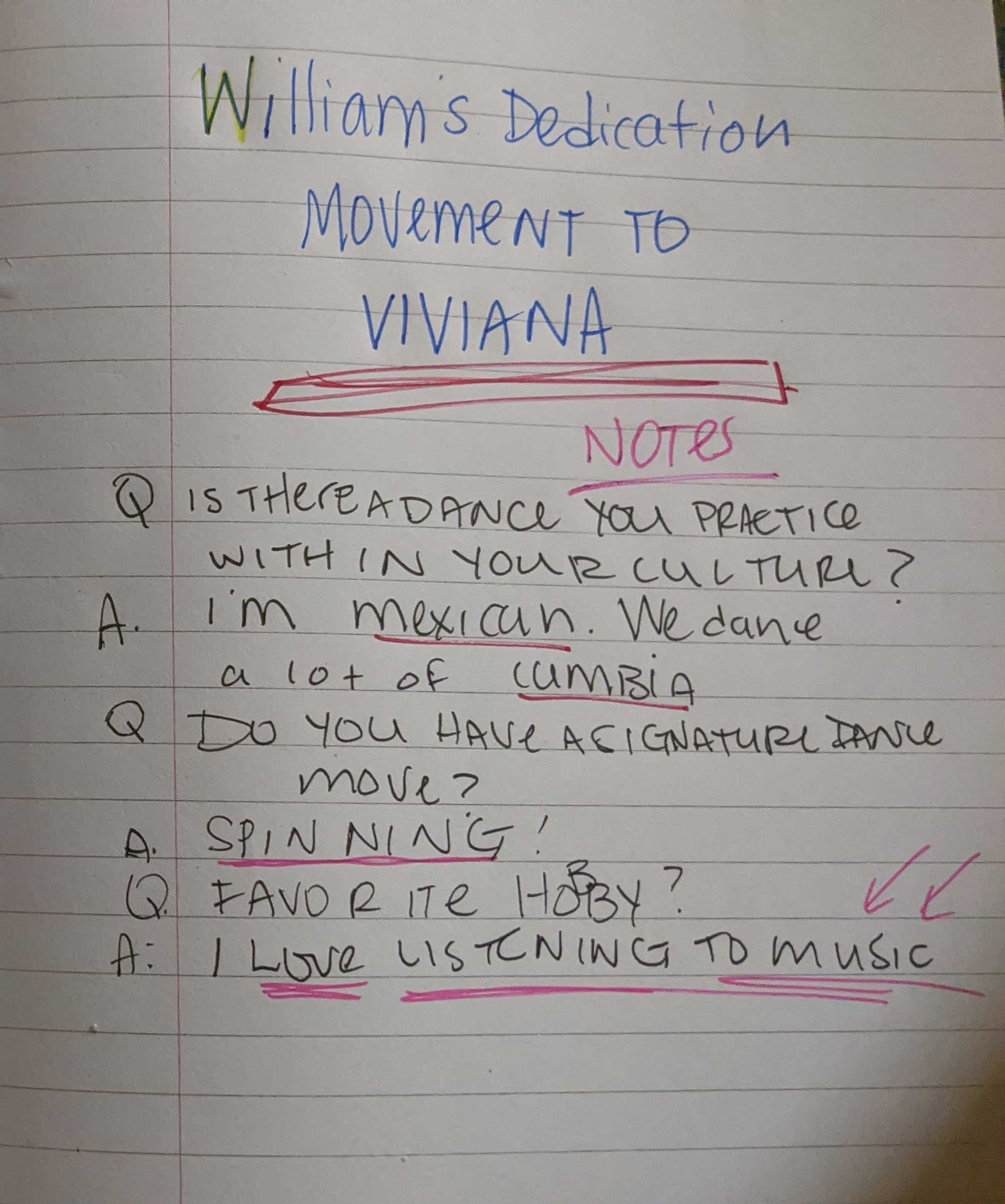 Interview Prep Page Example