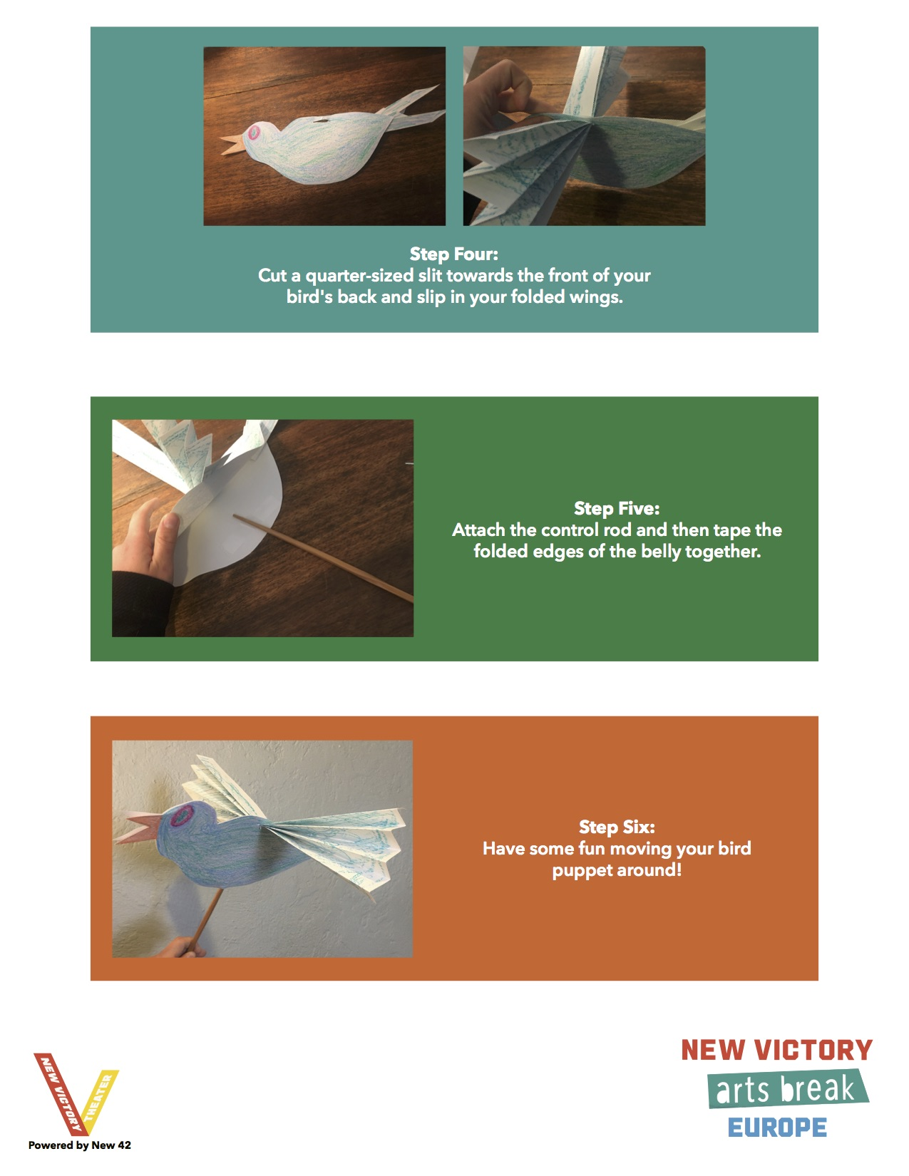 How to Make a Bird Puppet page 2