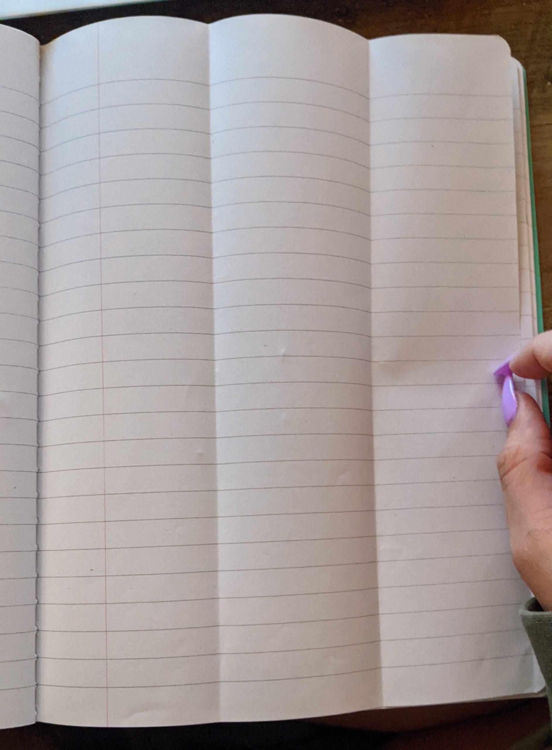 Three Column Notebook