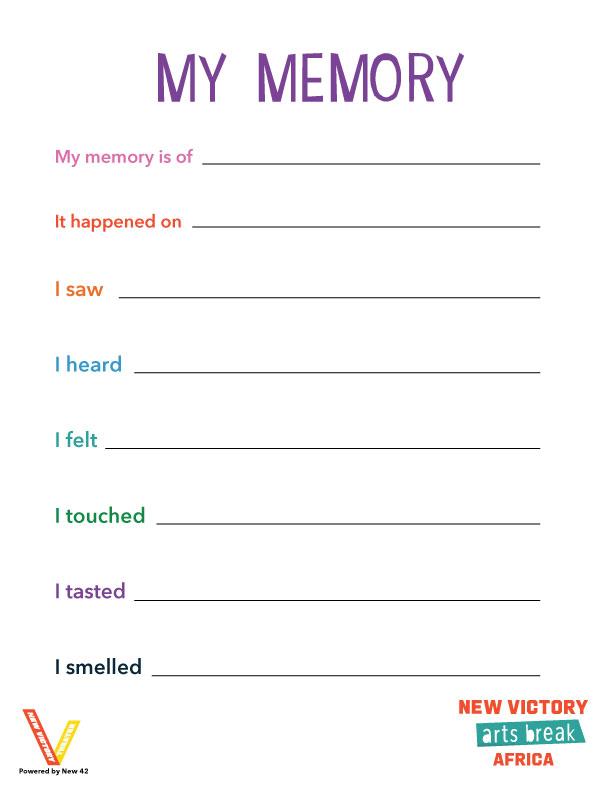 My Memory worksheet