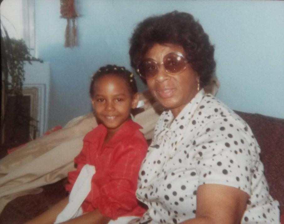 Nambi E. Kelley with Granny Helena Brooks