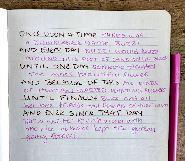 A personal, handwritten landmark story