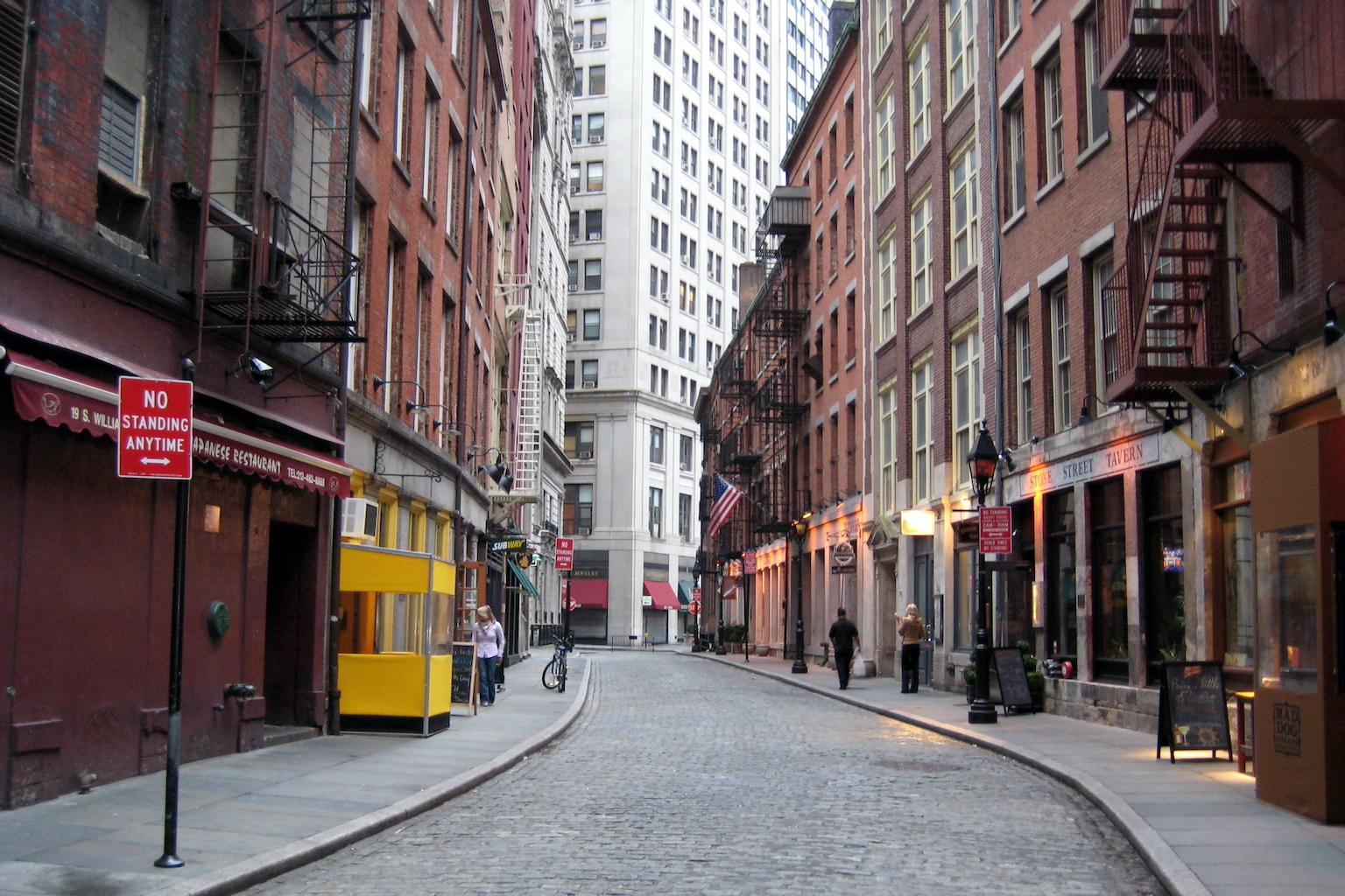 A photo of a city street