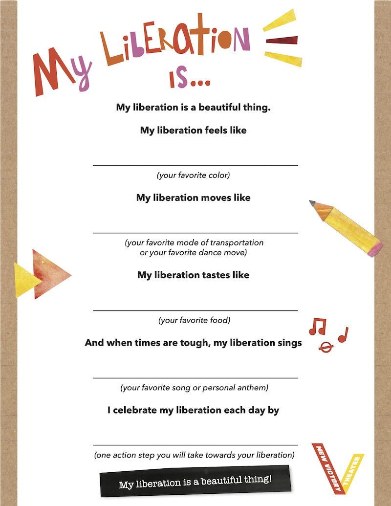 My Liberation Is... Worksheet Template